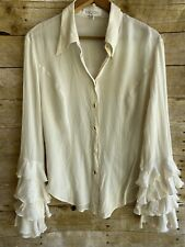 Escada Sport Womens Ivory Bell Sleeved Blouse Size European 42