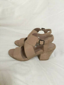 Eileen Fisher Carat leather sandals size US 7.5 M colour sand