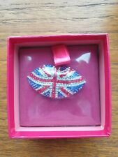 Brooch. Brand New Sealed With Box. Butler & Wilson Union Jack Flag Lips
