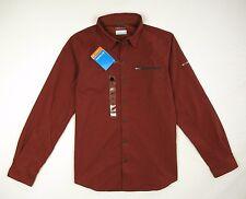 "New COLUMBIA Omni-Shade ""Cool Creek"" Hiking Travel Shirt Men's Medium Brick Red"