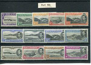 ASCENSION 1938-53 PERF 13½ SET OF (13) MINT CAT £500