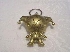 Loose Monogram Figural DC Comics Series 3 Gold Harley Quinn Keyring Key Chain