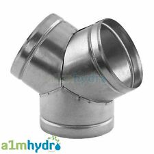 More details for metal y piece equal ducting connector for extraction fans hydroponics