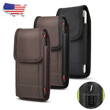 Cell Phone Vertical Nylon Carrying Belt Clip Pouch Case Holster Cover For iPhone