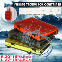 10 Compartments Fishing Lure Box Plastic Fishing Hooks Storage Tackle Boxes