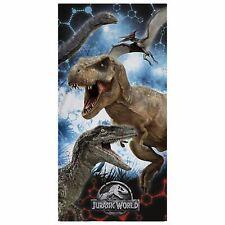 Jurassic World Blue Beach Towel 100% Cotton Dinosaurs Park