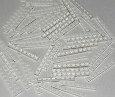Lego Lot of 50 New White Plates 1 x 8 Dot Building Blocks Pieces