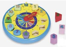 Melissa & Doug Educational Puzzle Toy Wood Blocks Learning Shapes Numbers Color