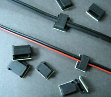 FC-12B #GTNs Black Self-adhesive Wire Clip Cable Clamp Assorted Sizes x 12 pcs