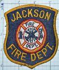 MICHIGAN, JACKSON FIRE DEPT THREAD BACK VINTAGE PATCH