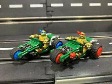 PAIR OF Carrera Go 1/43 Slot Car Teenage Mutant Ninja Turtles TMNT