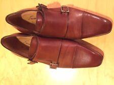 Tan double monk strap for men