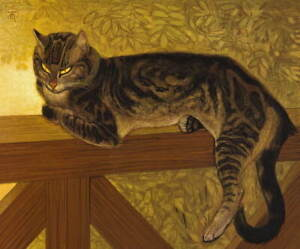 Theophile Alexandre Steinlen Summer Cat on Balustrade Giclee Paper Print Poster