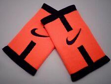 Nike Dri-Fit Stealth DoubleWide Wristbands Bright Mango/Purple Dynasty