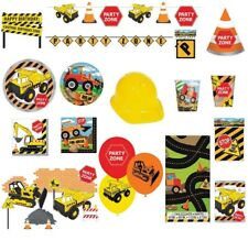 Construction Party Supplies Tableware Digger Cups Plates Hats Napkins Banners