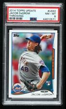 2014 Topps Update Jacob deGrom (Pitching) #US-50.1 PSA 8 Rookie RC