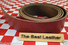 """HORWEEN CHROMEXCEL DARK RED LEATHER 8.5 OZ. 13""""x22mm FOR BELT & STRAP NAT. QLTY"""