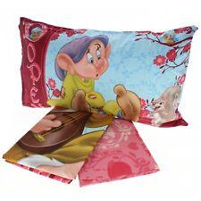 Completo Sábanas Disney Blancanieves E i 7 Enanos Cama Individual 100% Algodón
