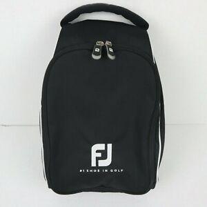 Footjoy FJ Golf Shoe Bag Hand Black Nylon Vented Carry Case Storage Handle
