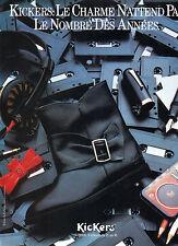 Publicité 1985  KICKERS botte KOROL chaussure collection mode
