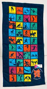 New 2012 London Olympic Venue Collection Games Beach Towel Multi-Sport GB Swim