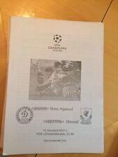 Dinamo Kiev v Liverpool pirate programme 16/10/2001