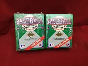 2-1990 Upper Deck Baseball Cards High # Series FACTORY SEALED Sets, New Unopened