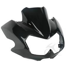 ABS Vivid Black Upper Front Fairing Cockpit Mask For Kawasaki Z750N 2004-2006 05