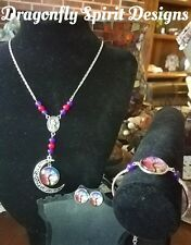 WICCAN/PAGAN MAGICAL -HEALING/PASSION- RUBY/AMETHYST TREE OF LIFE 3PC SET