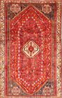 Antique Vegetable Dye Tribal Abadeh Area Rug Hand-knotted Oriental Carpet 5'x9'