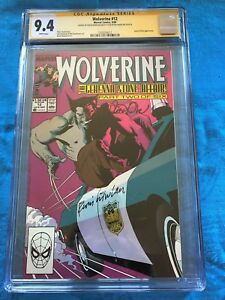 Wolverine #12 - Marvel - CGC SS 9.4 NM - Signed by Peter David, Kevin Nowlan