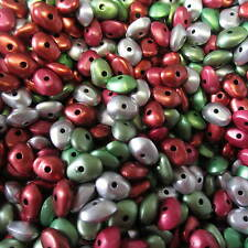 500 Beads Colourful Nugget Assorted Colours 8 x 4mm For Craft & Jewellery Making