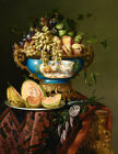 Fruit in a porcelain bowl Giclee Art Oil painting HD printed on canvas L3151