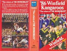 """RUGBY LEAGUE 86 KANGAROOS """"THE RETURN OF THE INVINCIBLES""""  VHS VIDEO PAL~"""