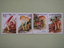Korea 1998 Mushroom Series 6th Issue Strip/4 MNH Sc#1935a-d