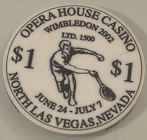 OPERA HOUSE CASINO Wimbledon $1 Casino Chip Las Vegas Nevada 3.99 Shipping
