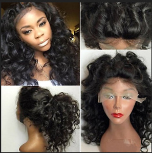 Curly Malaysian Virgin Human Hair Lace Front Wig Full Wigs with Baby Hair