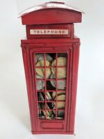 Classic Style  British Red Telephone Metal Box Money Bank Coin