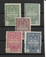 1922 Genoa Printing Postage DUE Stamps Complete Set MLH from Turkey