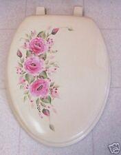 Hp Roses/Toilet Seat/Elongated Bone/ Pink Roses/Pretty