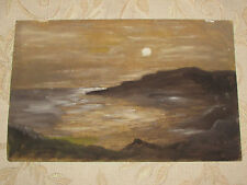 "Vintage Pintura Al Óleo Original De Fotos De A Bordo"" Sundown"""