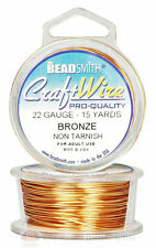 Bronze 22GA Round Craft Wire Jewelry Beading Wrapping Jump Rings 15 Yds