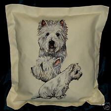 HAND CRAFTED Westies Dogs Copricuscino