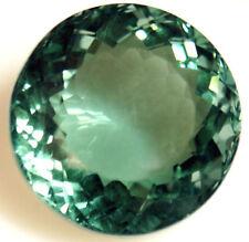 25.7 cts 20 mm Round Green Cultured Quartz