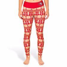 Klew NFL Women's San Francisco 49ers Aztec Print Football Leggings Yoga Pants