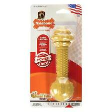 Nylabone DuraChew Barbell Peanut Butter Medium | Dental Nylon Toy for Dogs