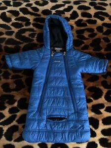 Eddie Bauer Newborn Infant Baby Boy Snowsuit Puffer Bunting Blue Size 0-3M
