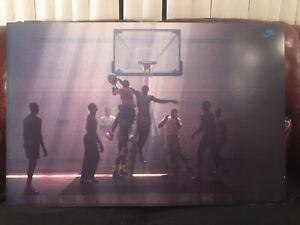 """Michael Jordan Rare Nike Poster """"Shirts & Skins"""" 1988 ~ Matted & Frame Ready 🏀"""