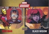 2016 Upper Deck Marvel Annual Dual Patch DCP-9 Iron Man Black Widow
