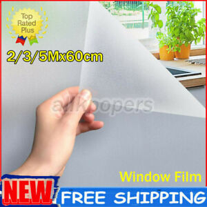 3/5Mx60cm Frosted Privacy Glass Cling Window Film Protector Sticker Home Office